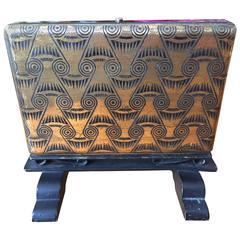 1930's Decorative Bronze Tabletop Cigarette Box