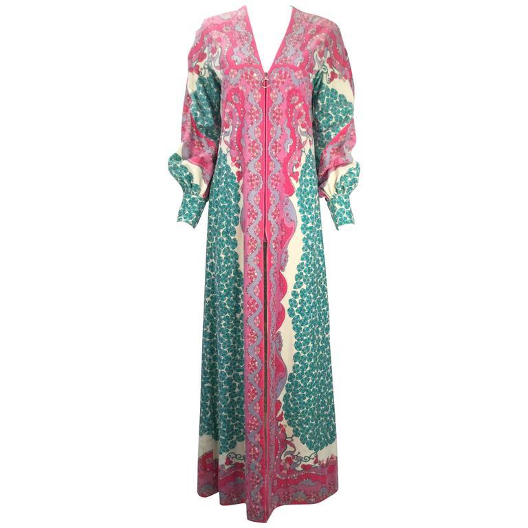 Emilio Pucci Terry Cloth Multicolor Caftan, 1960s