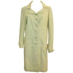 Chanel Chartreuse Lambskin 3/4 Coat - 40 - 04C