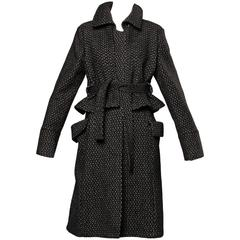 Gianfranco Ferre Soft Wool + Alpaca Avant Garde Coat with Cape Detail