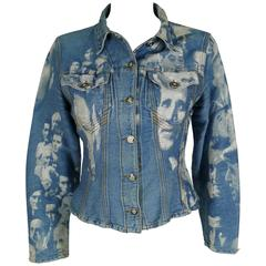 Jean Paul Gaultier Vintage Face Jacquard Denim Jacket