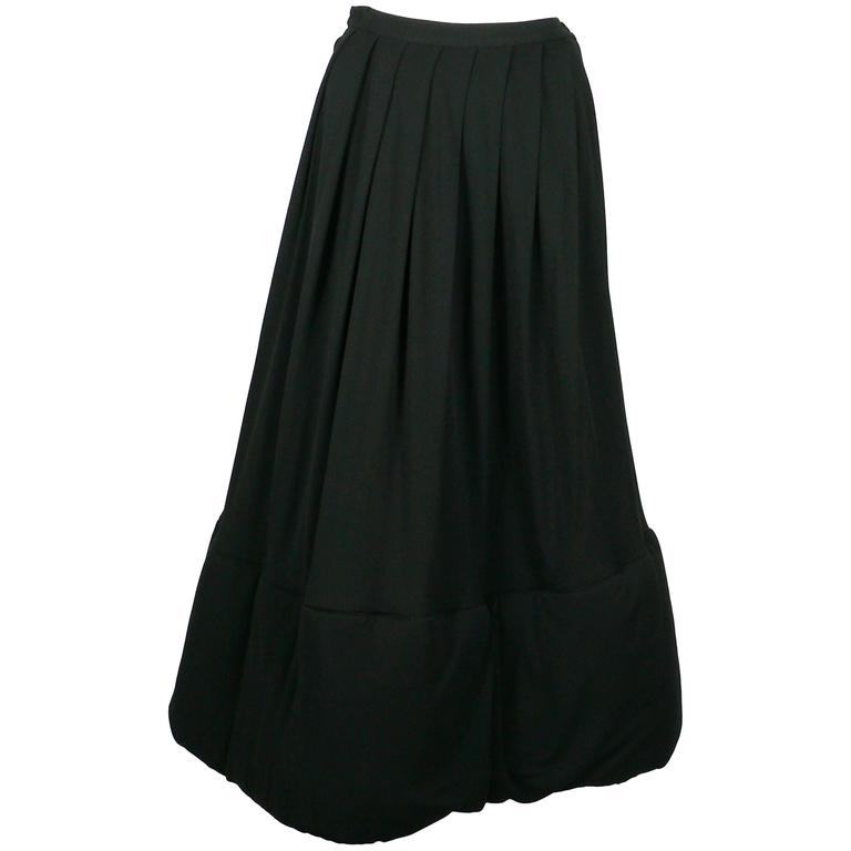 Jean Paul Gaultier Classique Vintage 1990s Rare Black Padded Skirt