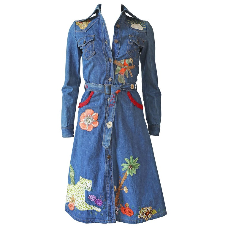 Peter Golding 'Ace Jungle Jean' Denim Dress, c. 1974