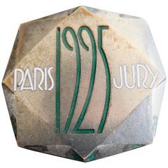 RARE 1925 Art Deco/ Cubist Lapel Pin by Raymond Templier