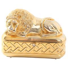 Vintage Judith Leiber Gold Lion Minaudiere