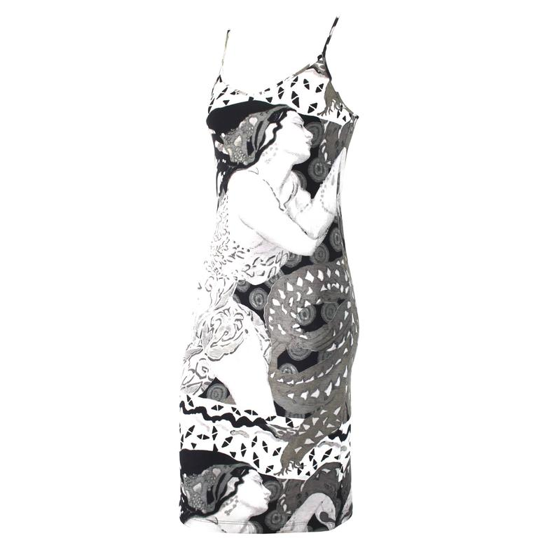 Jean Paul Gaultier Deco Print Slip Dress 1