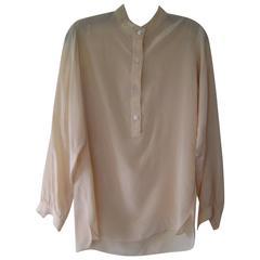 1970s Halston Silk Tunic Top