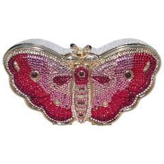 Judith Leiber Swarovksi Crystal Butterfly Minaudiere