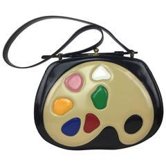 Rare Moschino Artist's Palette Handbag. 1990's.