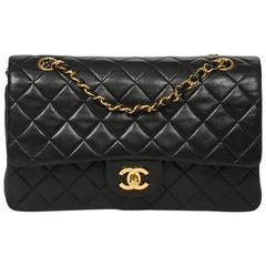 Classic Double Flap Black Quilted Leather