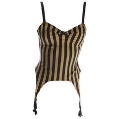 Jean Paul Gaultier Striped Lingerie Inspired Bustier Top