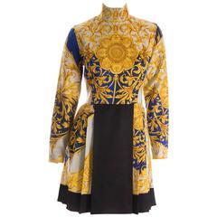 Versus Versace Baroque Print Dress