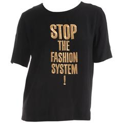 """Moschino Couture """"Stop The Fashion System"""" Iconic Top"""