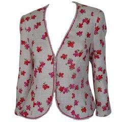 Escada beautiful summer flower jacket size US 8