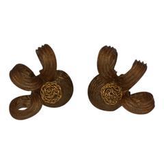 French Talosel Swirl Earclips