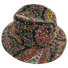 Adolfo Realites Fedora Hat With Prong Set Swarovski Crystals, Circa 1960's