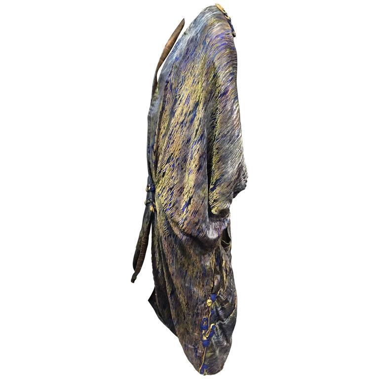 1920s Extraordinary Lamé Brocade Cocoon Coat with Braid Work Embellishment