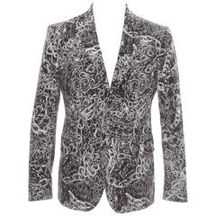 Moschino Men's Cotton Chain Print Blazer, Spring 2013