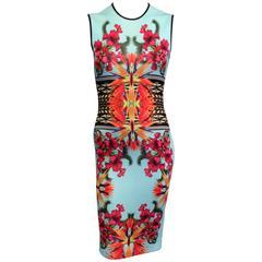 Givenchy Aqua Floral Knit Dress