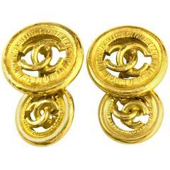 Chanel Gold CC Cufflinks