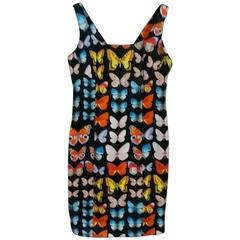 Iconic Gianni Versace Butterfly Printed Dress Spring 1995
