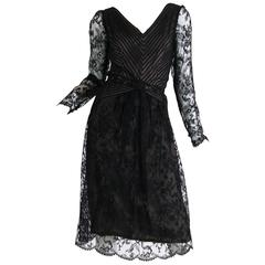 Fine lace and Silk Chiffon dress from Bill Blass