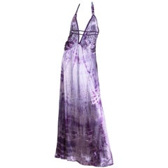 MORPHEW COLLECTION Lilac Tie Dyed Silk Charmeuse  Gown Re-Worked From A 1930S B
