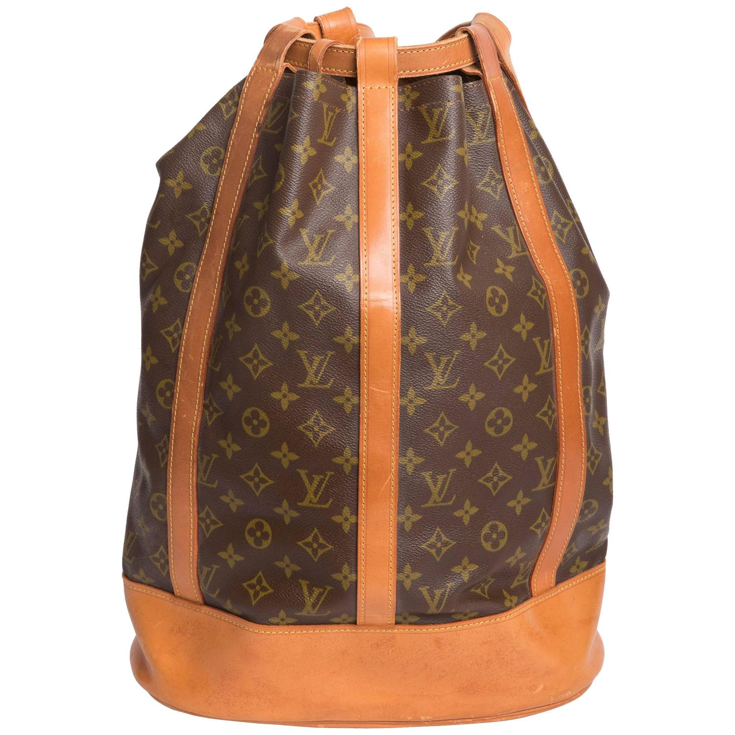 vintage louis vuitton monogram randonnee gm backpack sling at 1stdibs. Black Bedroom Furniture Sets. Home Design Ideas