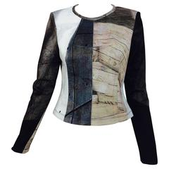 Yigal Azrouel neoprene printed top
