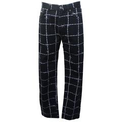 Moschino Mens Barbed Wire Printed Jeans