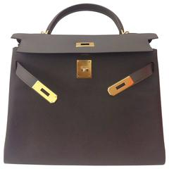Hermes Kelly 32 Etain Evercolor GHW