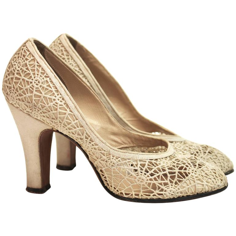 1950s Spider Web Lace Heels 1