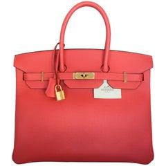 Hermes Rouge Jaipur Epsom 35 cm Birkin Bag - GHW - 2015 - NWT