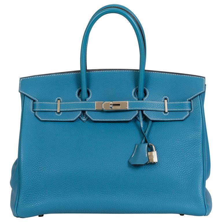 Hermès Birkin Blue Jean 35cm Togo Bag