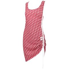 Christian Dior by John Galliano Dior Logo Print Tank Dress