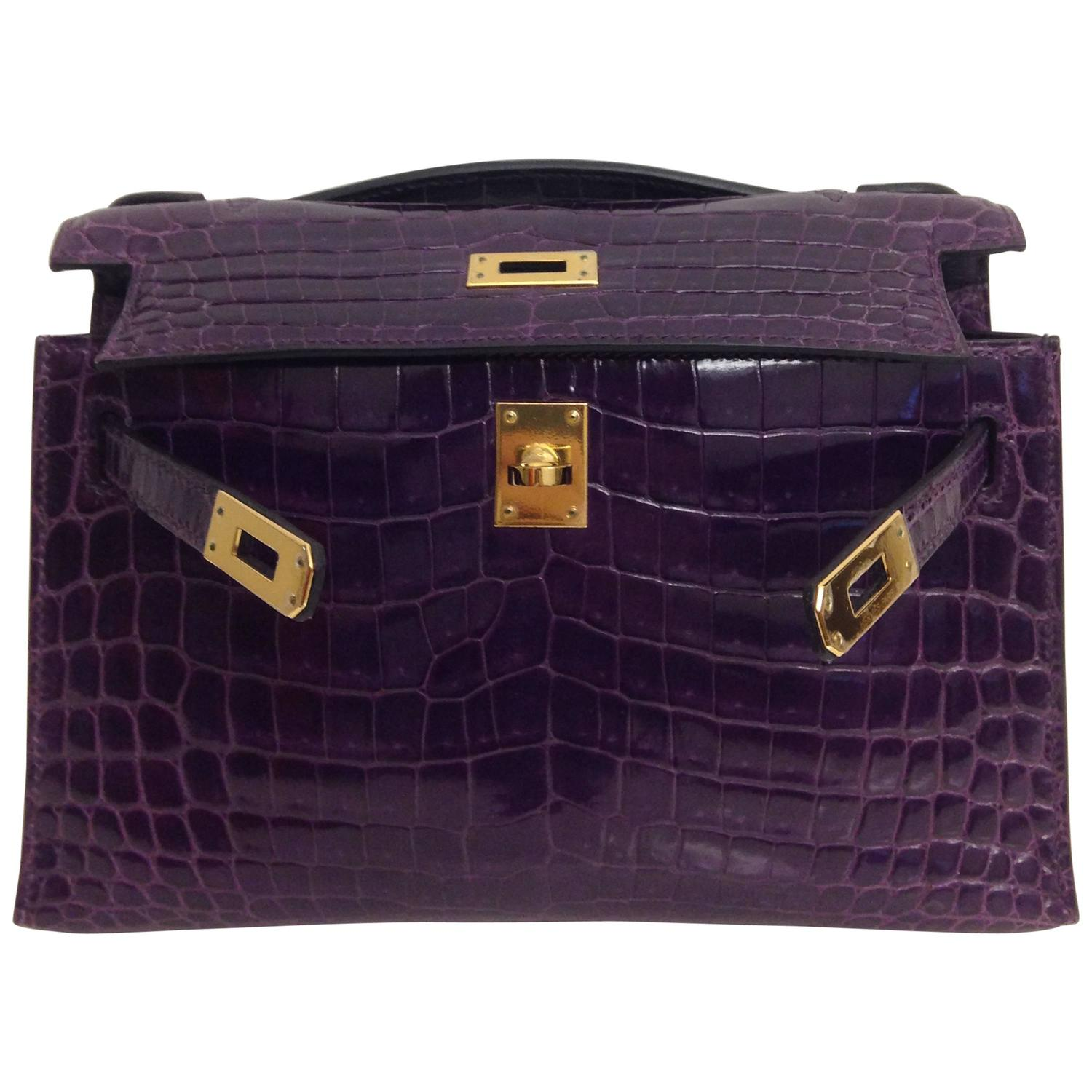 where are brighton purses made - Hermes Kelly Pochette Amethyste Shiny Crocodile Niloticus GHW For ...
