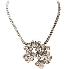 1950's Weiss Clear Rhinestone Necklace