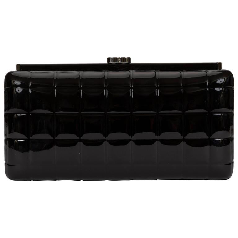 Chanel Patent Leather Evening Clutch Bag