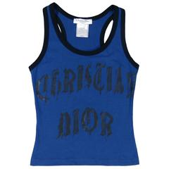 Christian Dior by John Galliano Logo Tank with Gothic Font
