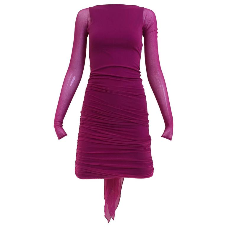 90s Giorgio Di Sant Angelo fuschia knit dress 1