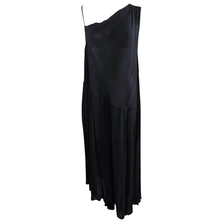 Yohji Yamamoto Vintage 1980's Black Long Sheer Dress 1