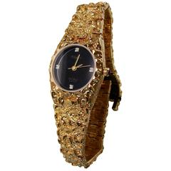 Lucien Piccard DUFONTE Ladies Quartz Watch Gold with Diamonds Dead Stock New