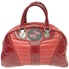 Gucci Red Snow Glam Boston Bag