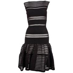 AZZEDINE ALAIA black lace knit dress