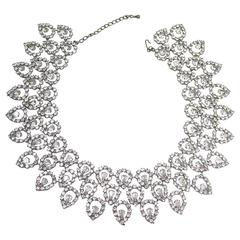 Kenneth Jay Lane Dramatic Rhinestone Collar Necklace