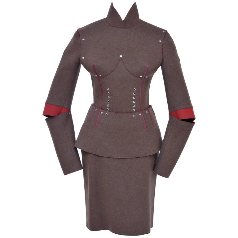 JEAN PAUL GAULTIER Pour Gibo Runway Fall 2013   Breast Cone Armour Suit For Sale