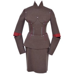 JEAN PAUL GAULTIER Pour Gibo Runway Fall 2013   Breast Cone Armour Suit