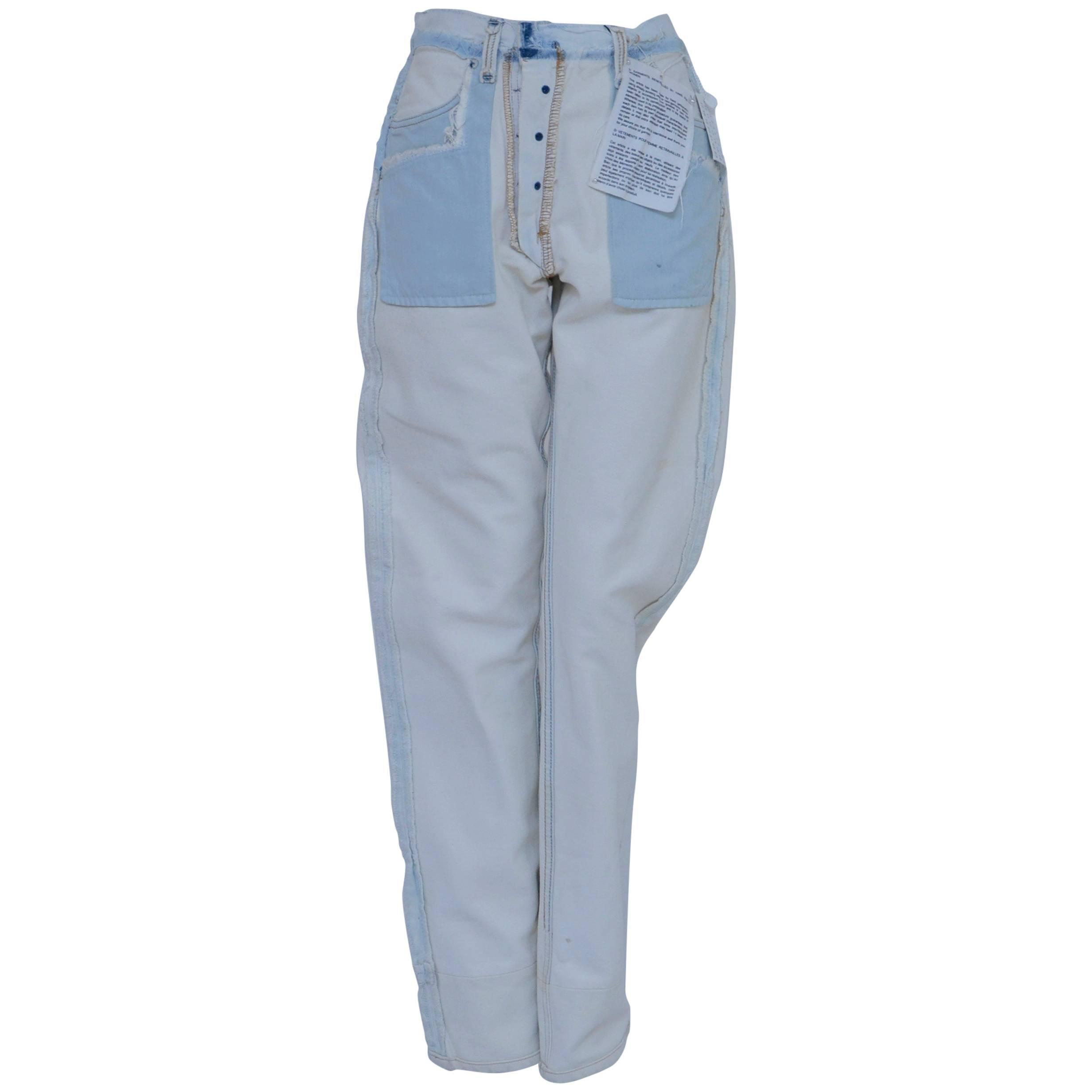 Maison Martin Margiela Artisanal Remodeled By Hand Denim Jeans  New  Size# 2