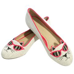 Charlotte Olympia Cat With Sunglasses Loafers