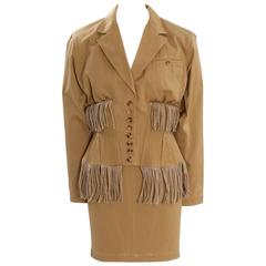 Iconic Alaïa Cord Skirt Suit